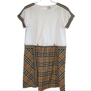Burberry Vintage Check Detail Cotton Dress 14Y